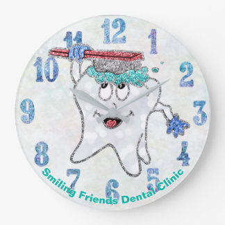 Dental Clock Fun Glitter Custom