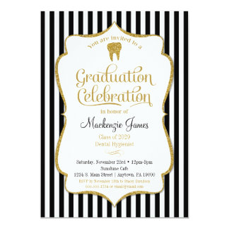 Dental Dentist Hygienist Graduation Invitation