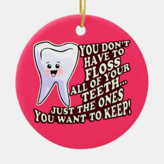 Dental Hygienist Ceramic Ornament
