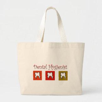 Dental Hygienist Gifts, 3 Teeth Design Large Tote Bag