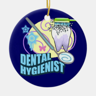 Dental Hygienist Round Ceramic Ornament