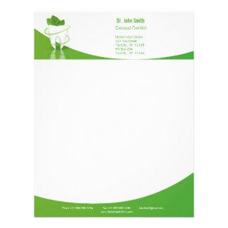 Dental Medical Mint Leaf Tooth - Letterhead