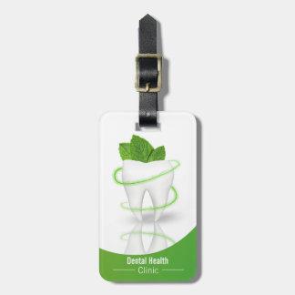 Dental Medical Mint Leaf Tooth - Luggage Tag