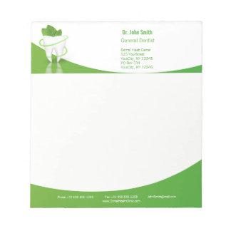 Dental Medical Mint Leaf Tooth - Notepad