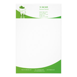 Dental Medical Mint Leaf Tooth - Stationery