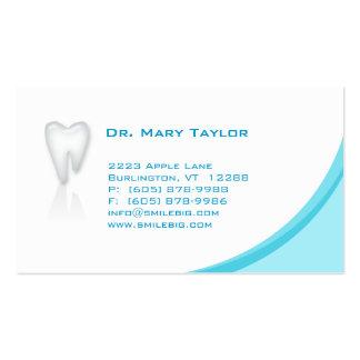 Dental Molar Business Card Blue curve