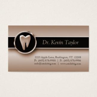 Dental Molar Business Card Bronze Metallic