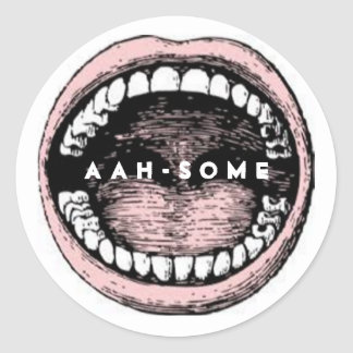 Dental Office Classic Round Sticker