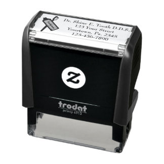 Dental Office Custom Self- Inking Rubber Stamp