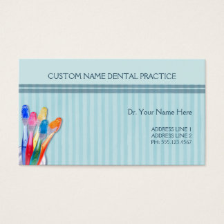 Dental Practice Toothbrush Stripes Business Card