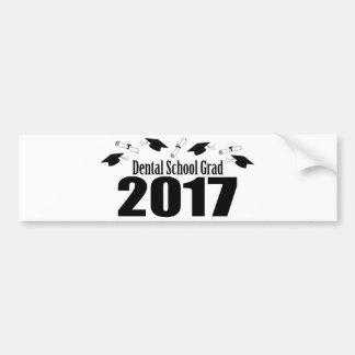 Dental School Grad 2017 Caps And Diplomas (Black) Bumper Sticker