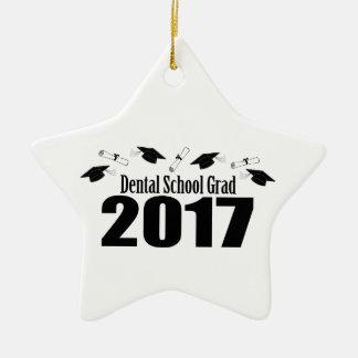 Dental School Grad 2017 Caps And Diplomas (Black) Ceramic Ornament