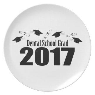 Dental School Grad 2017 Caps And Diplomas (Black) Plate