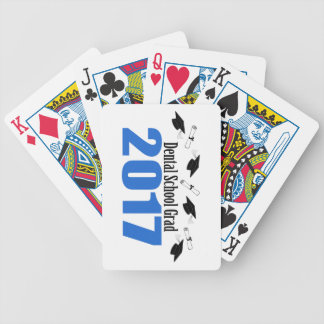 Dental School Grad 2017 Caps And Diplomas (Blue) Bicycle Playing Cards