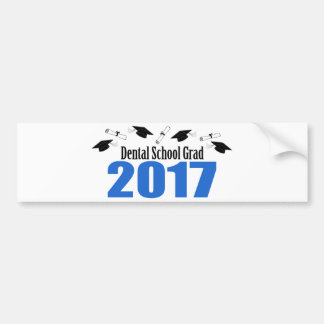 Dental School Grad 2017 Caps And Diplomas (Blue) Bumper Sticker