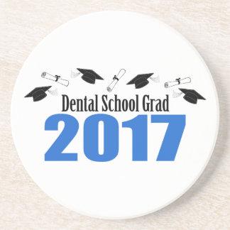Dental School Grad 2017 Caps And Diplomas (Blue) Coaster