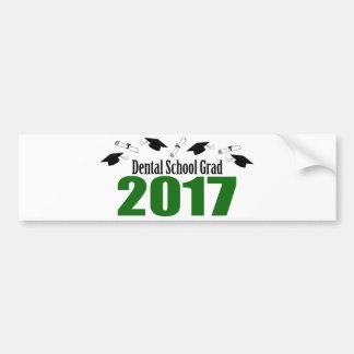 Dental School Grad 2017 Caps And Diplomas (Green) Bumper Sticker