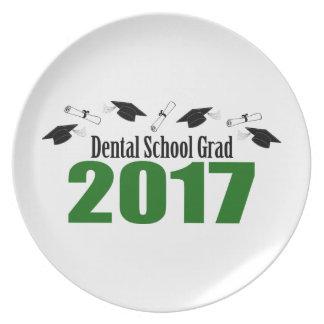 Dental School Grad 2017 Caps And Diplomas (Green) Plate