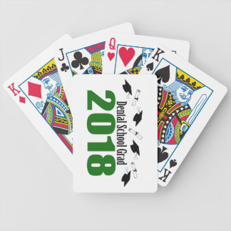 Dental School Grad 2018 Caps And Diplomas (Green) Bicycle Playing Cards