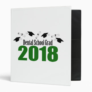 Dental School Grad 2018 Caps And Diplomas (Green) Binder