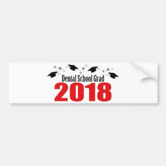 Dental School Grad 2018 Caps And Diplomas (Red) Bumper Sticker