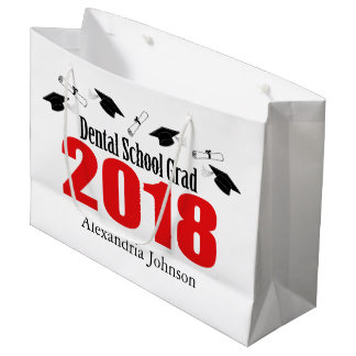 Dental School Grad 2018 Graduation Gift Bag (Red)