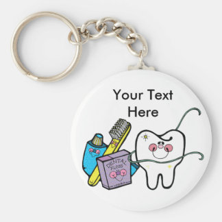 Dental Stuff for Dentist Day March 6th Keychain