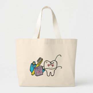 Dental Stuff for Dentist Day March 6th Large Tote Bag