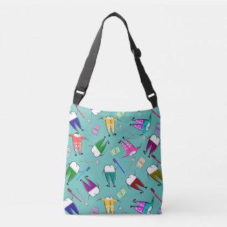 Dental Teeth People Art Seafoam Green Crossbody Bag