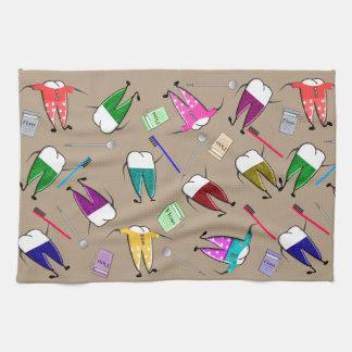 Dental Teeth People Kitchen Towel