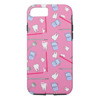 Dental Tools Hygienist and Techs Pink iPhone 7 Case