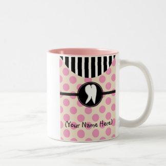 Dental Tooth Design Gifts Two-Tone Coffee Mug