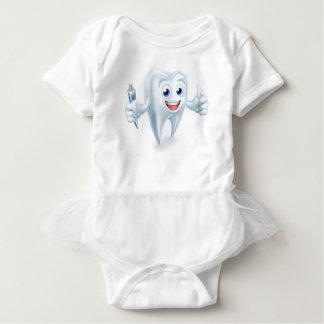 Dental Tooth Mascot Baby Bodysuit