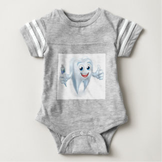 Dental Tooth Mascot Baby Bodysuit