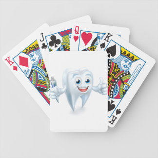 Dental Tooth Mascot Bicycle Playing Cards