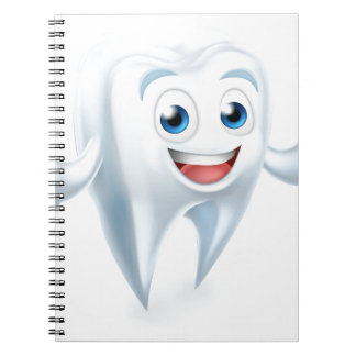 Dental Tooth Mascot Notebooks