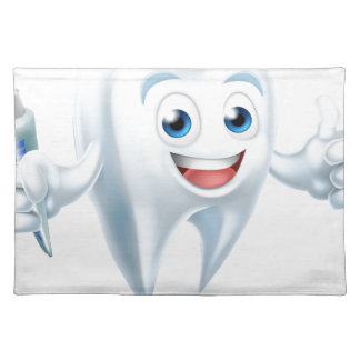 Dental Tooth Mascot Placemat