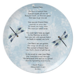 Dented Halo Poem Plate