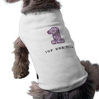 Dentelle pourpre mignonne et Girly numéro 1 UN A23 Manteau Pour Animal Domestique
