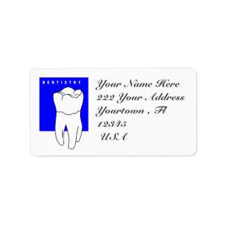 Dentist  Address Label