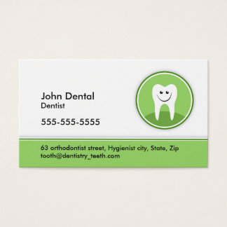 Dentist and dental business or profile card