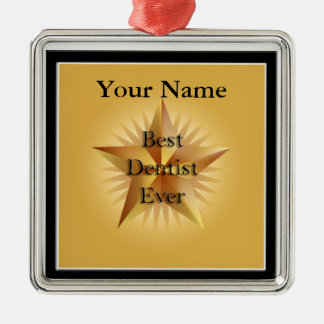 Dentist Best Ever Gold Star Premium Ornament