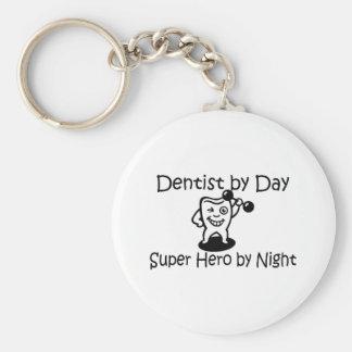 Dentist By Day Super Hero By Night Basic Round Button Keychain