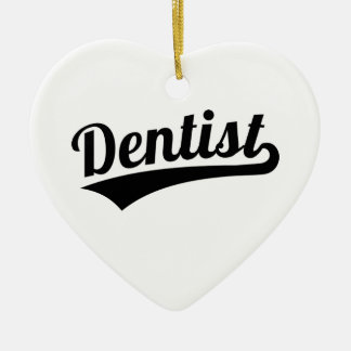 Dentist Ceramic Heart Ornament