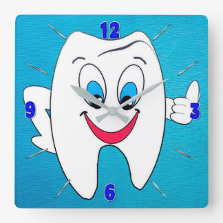 Dentist Clock - Happy Tooth and Picks