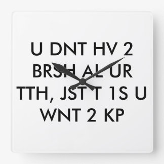 dentist clock text abbreviation cool teen wall