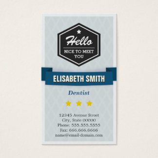 Dentist - Creative Retro Stylish Business Card