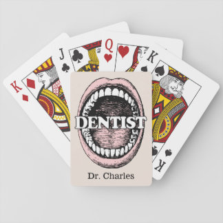 Dentist custom name playing cards