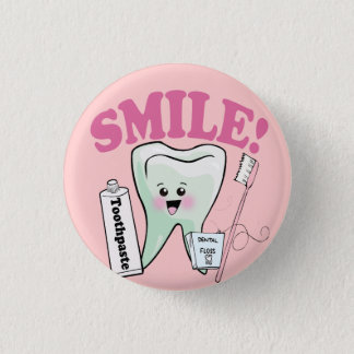 Dentist Dental Hygienist 1 Inch Round Button