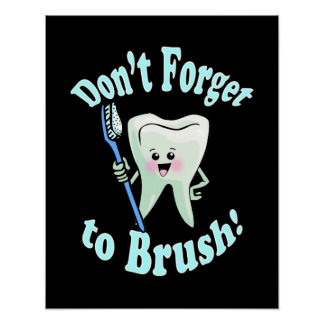 Dentist Dental Hygienist Artwork Poster